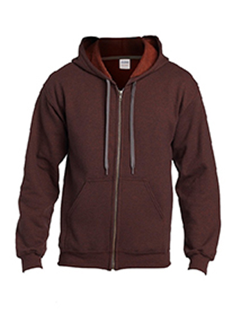 Russet zip up gildan heavy blend vintage hoodie