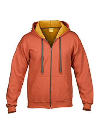 sunset orange zip up gildan heavy blend vintage hoodie