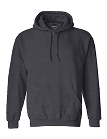 Dark Heather Grey Gildan Premium Pullover Hoodie