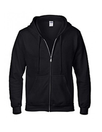 black Gildan heavy blend zip up hoodie