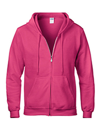 Heliconia pink Gildan heavy blend zip up hoodie