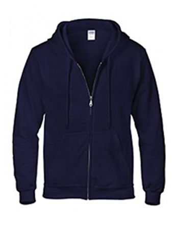 navy Gildan heavy blend zip up hoodie