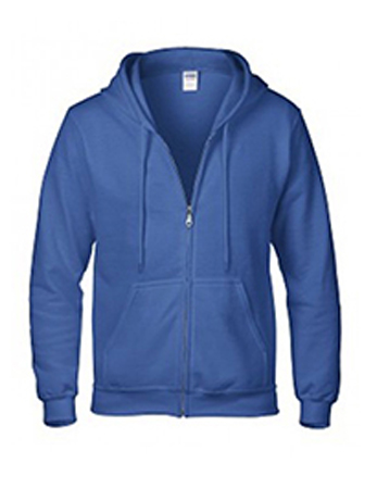 Royal Gildan heavy blend zip up hoodie