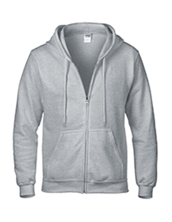 sport grey Gildan heavy blend zip up hoodie