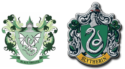 RI and Slytherin Logo Harry Potter