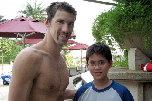 Joseph Schooling and Michael Phelps