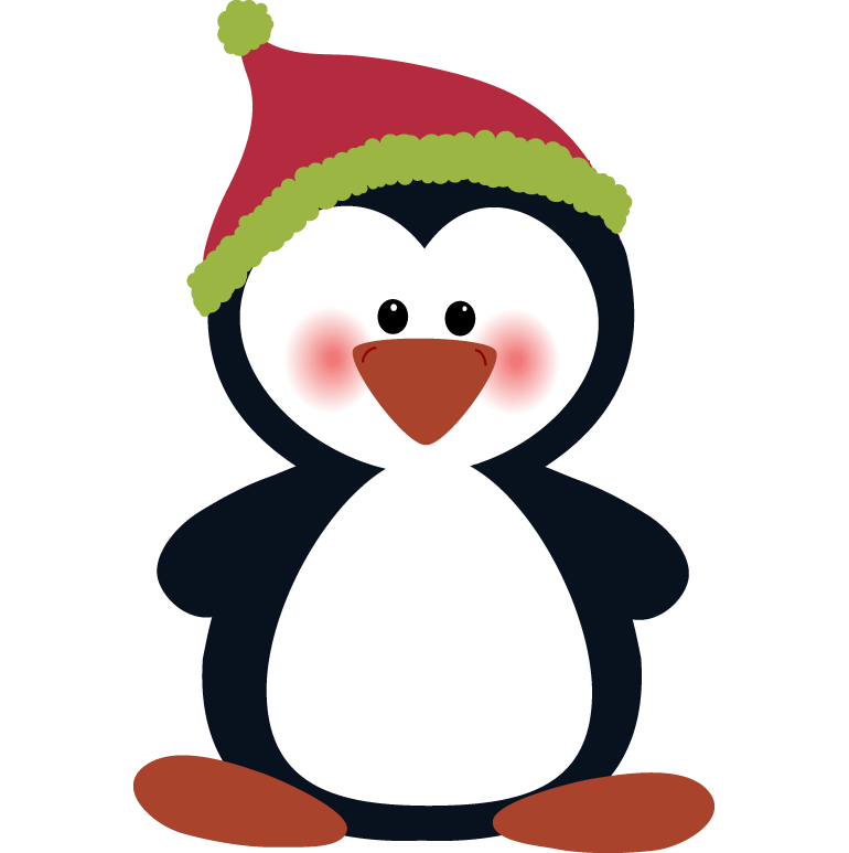 Cute Christmas penguin art