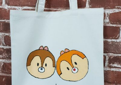 Art Jamming on Tote Bag - Chip and Dale