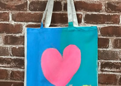 Art Jamming on Tote Bag - Heart