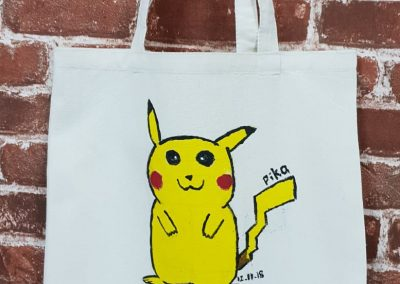 Art Jamming on Tote Bag - Pikachu