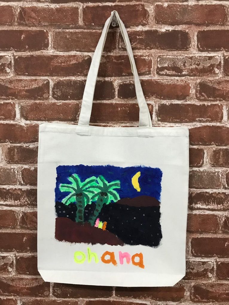 Art Jamming on Tote Bag Scenery