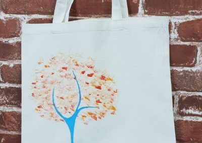 Art Jamming on Tote Bag - Tree