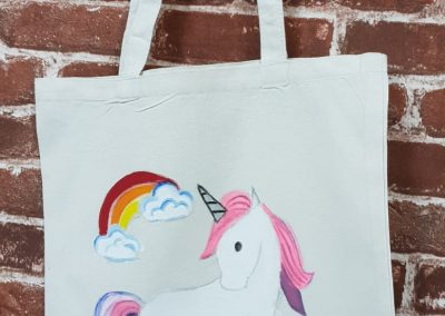 Art Jamming on Tote Bag - Unicorn
