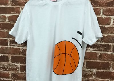Art Jamming on T-Shirt - Basketball