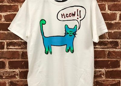 Art Jamming on T-Shirt - Cat