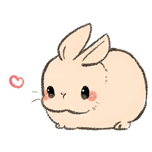 Cute bunny illustration 1