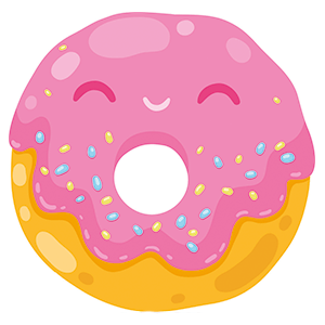 cute donut illustration
