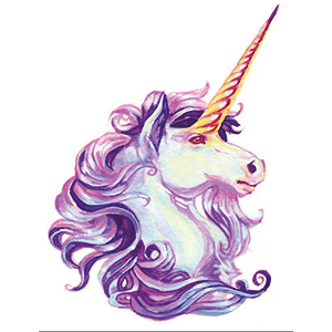 Majestic cool unicorn art