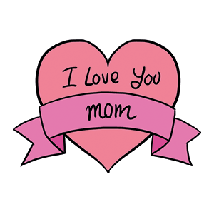 Mother's day love heart art