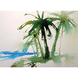 palm tree painting art
