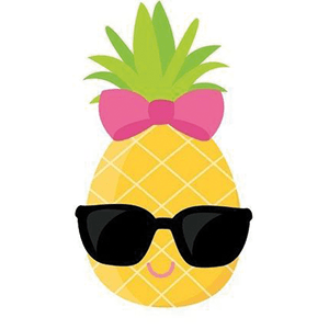 Cool pineapple with sunglasses art